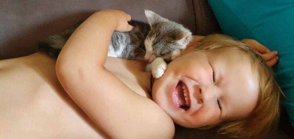 Huisdieren en kinderen: Knuffel maatjes!